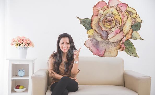 Naklejka z kwiatem do salonu