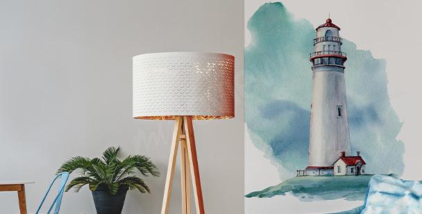 Naklejka z latarnią morską