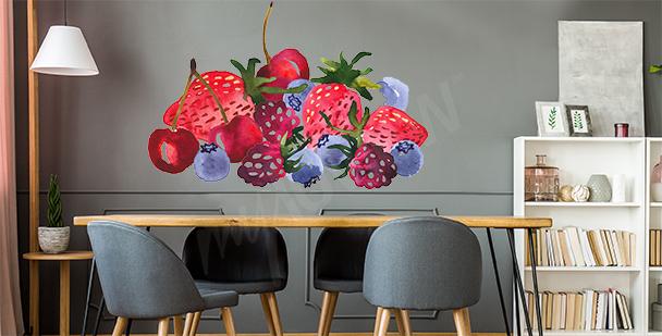 Naklejka z letnimi owocami