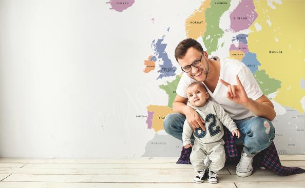Naklejka z mapą polityczną Europy