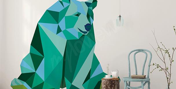 Naklejka z niedźwiedziem