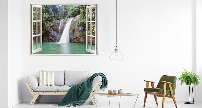 Naklejka z widokiem na wodospad
