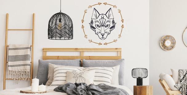Naklejka z wizerunkiem wilka
