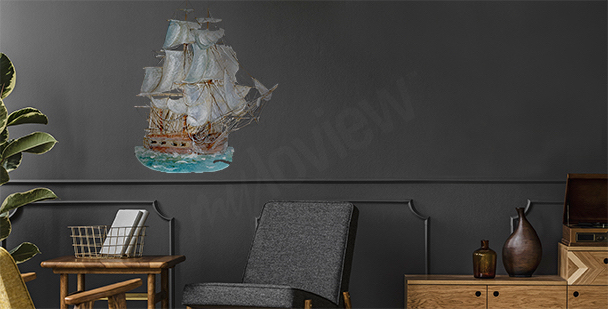 Naklejka żegluga morska