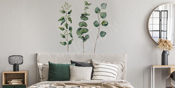 Naklejka zieleń w akwareli