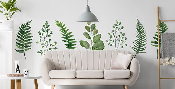Naklejka zielona natura