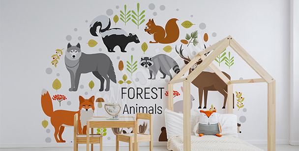 Naklejka zwierzęta leśne