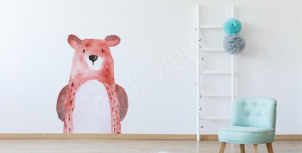 Naklejka zwierzęta: niedźwiadek