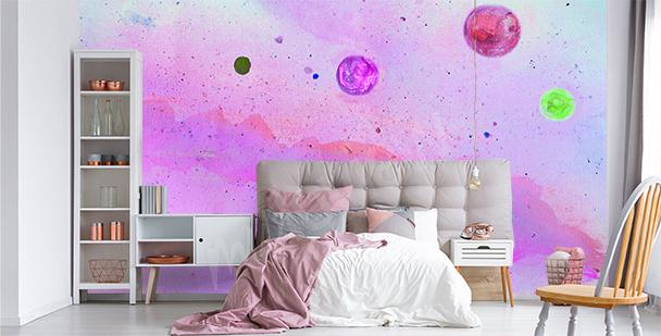 Neonowa fototapeta galaktyka