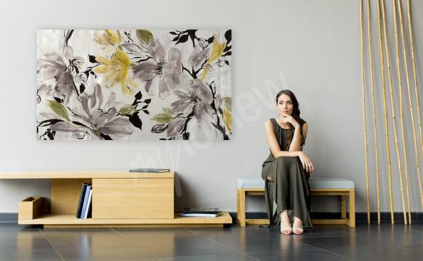 Nowoczesny obraz z motywem kwiatów