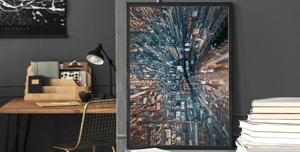 Plakat miasto malarstwo