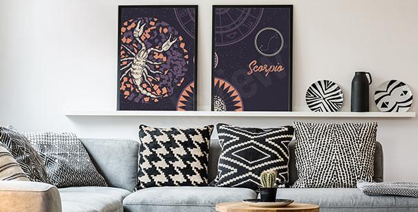 Plakat kosmos styl minimalistyczny