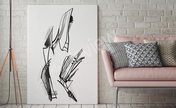 Obraz abstrakcja czarno-biała