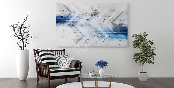 Obraz abstrakcja do salonu