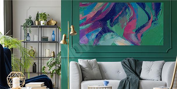 Obraz abstrakcyjne plamy koloru