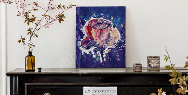 Obraz abstrakcja na granatowym tle