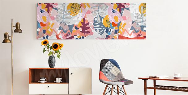 Obraz abstrakcyjne kwiaty