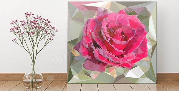 Obraz abstrakcyjny kwiat róży
