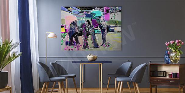 Obraz abstrakcyjny wizerunek słonia