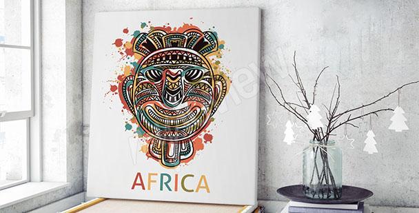 Obraz afrykańska maska