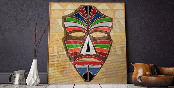 Obraz afrykańska maska etno