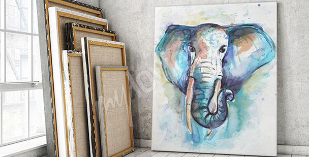 Obraz afrykański słoń akwarela