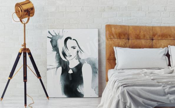 Obraz akwarela kobieta
