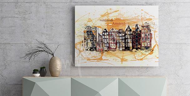 Obraz Amsterdam do przedpokoju