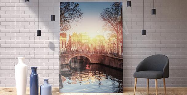 Obraz Amsterdam o zachodzie słońca