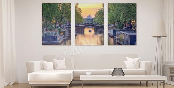 Obraz Amsterdam - tryptyk