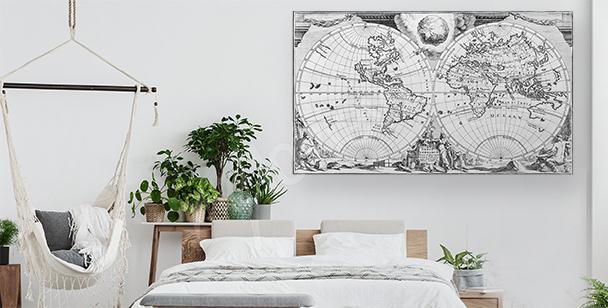 Obraz antyczna mapa świata