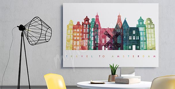 Obraz architektura Amsterdamu