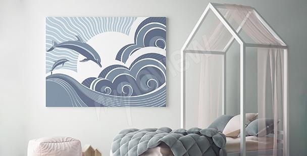Obraz bajkowe delfiny
