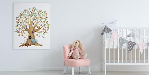 Obraz bajkowe drzewo