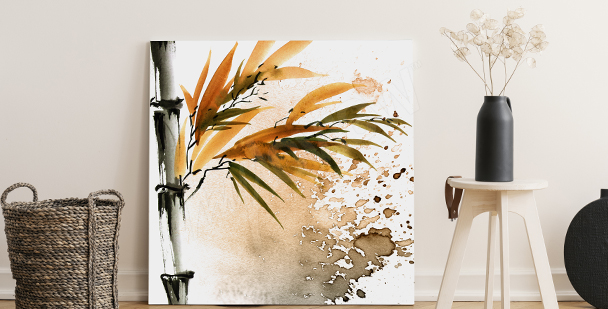 Obraz bambus do salonu