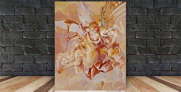 Obraz barokowy fresk z aniołem