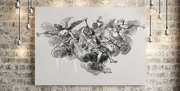 Obraz barokowy z aniołami