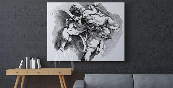 Obraz barokowy z cherubinami