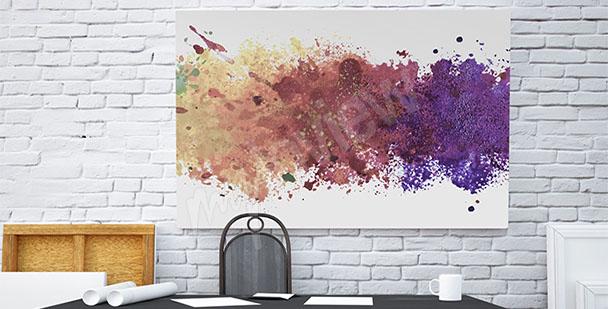 Obraz biurowy plamy kolorów