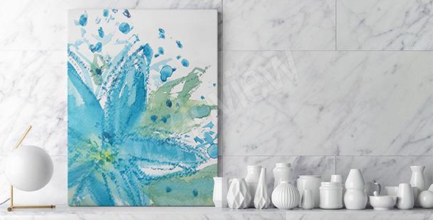 Obraz błękitny kwiat