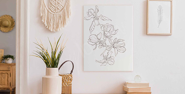 Obraz kwiaty magnolii