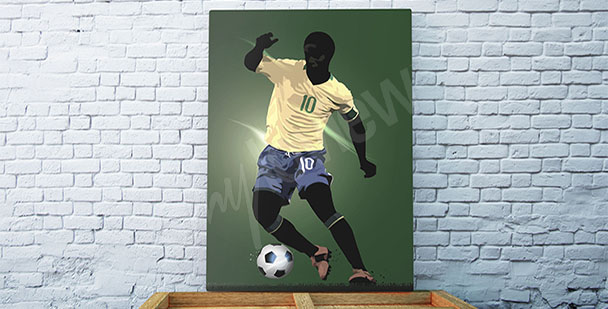 Obraz brazylijski piłkarz