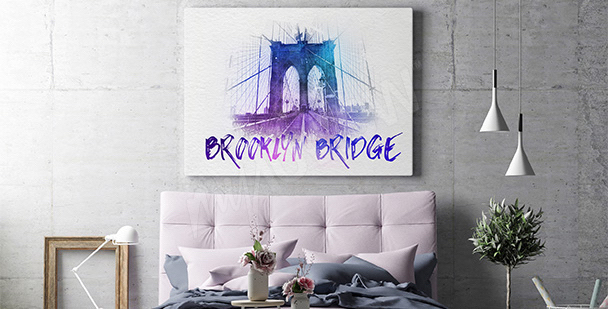 Obraz Brooklyn Bridge do salonu