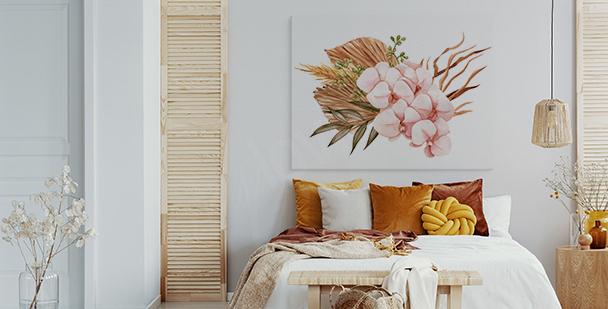 Obraz orchidea biało-różowa
