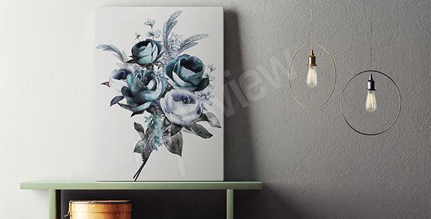 Obraz bukiet kwiatów - styl minimal
