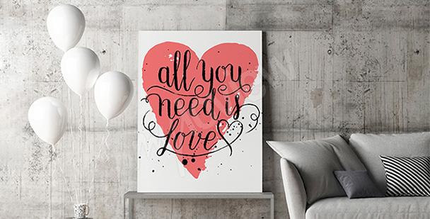 Obraz cytat o miłości