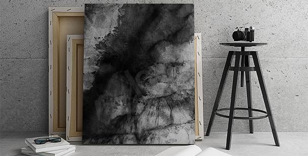 Obraz czarna abstrakcja