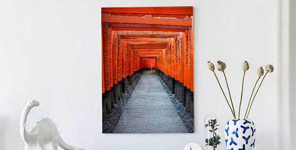 Obraz czerwona brama