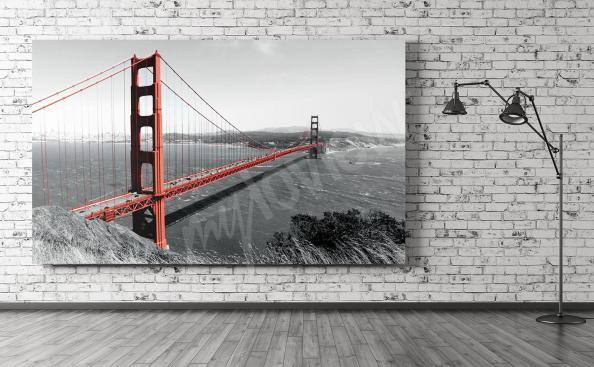 Obraz czerwony most