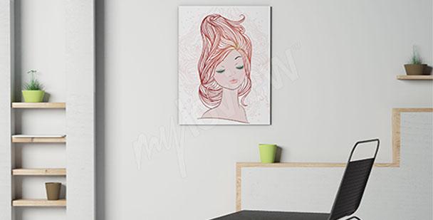 Obraz damska fryzura